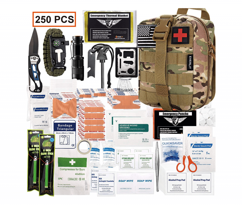 EVERLIT 250 Pieces Survival First Aid Kit