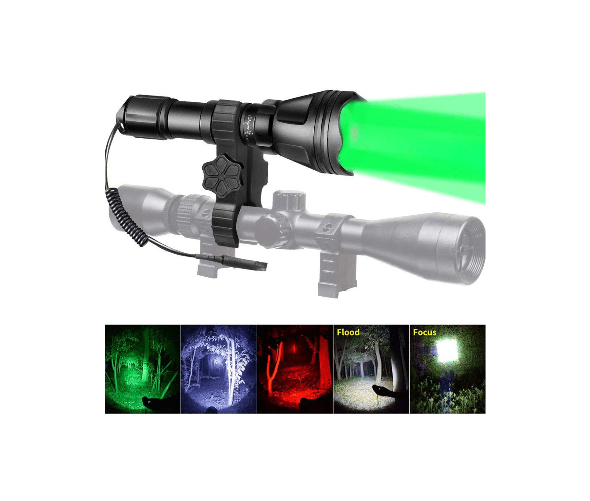 Odepro KL52Plus Zoomable Hunting Flashlight