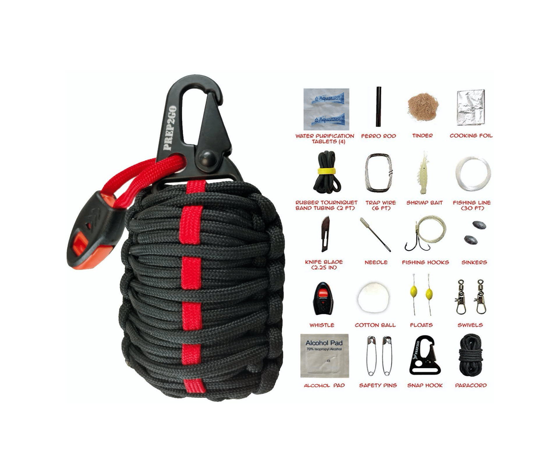 Paracord Survival Grenade Kit