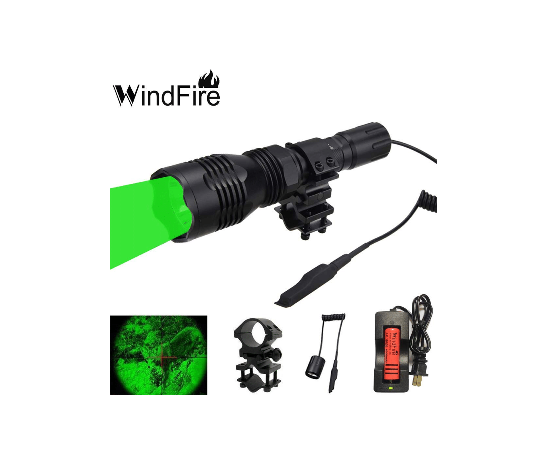 WindFire Green LED Hunting Light